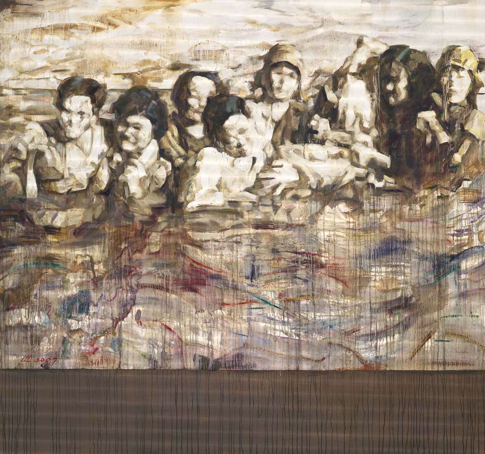 Arise Ye Wretched of the Earth, 2007, by Hung Liu. Oil on canvas, 80 x 80 inches. Photo: Courtesy Kala