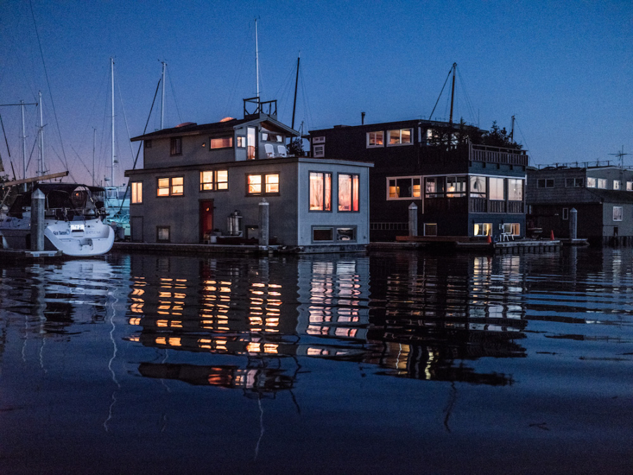 Floating homes on the Berkeley Marina offer a 'unique lifestyle