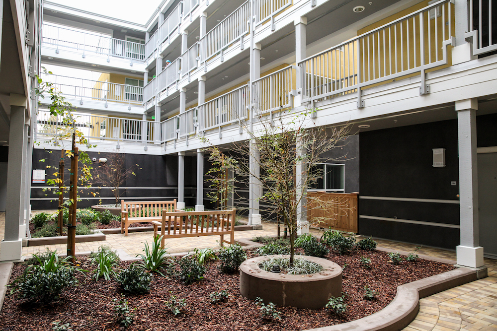 Harper Crossing's most prominent design feature is its courtyard. Photo: Kelly Sullivan