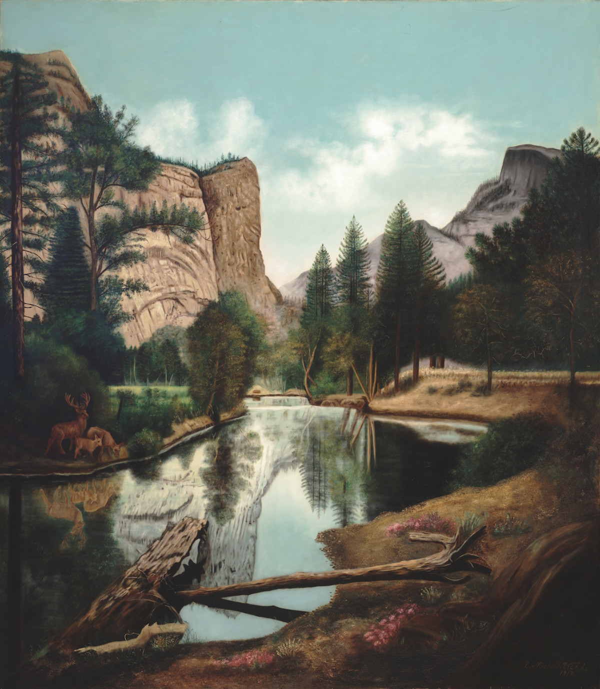 Emma Michalitschke: Yosemite Landscape, 1913; oil on canvas; 50 x 44 in.; University of California, Berkeley Art Museum and Pacific Film Archive; Gift of Emma Michalitschke.
