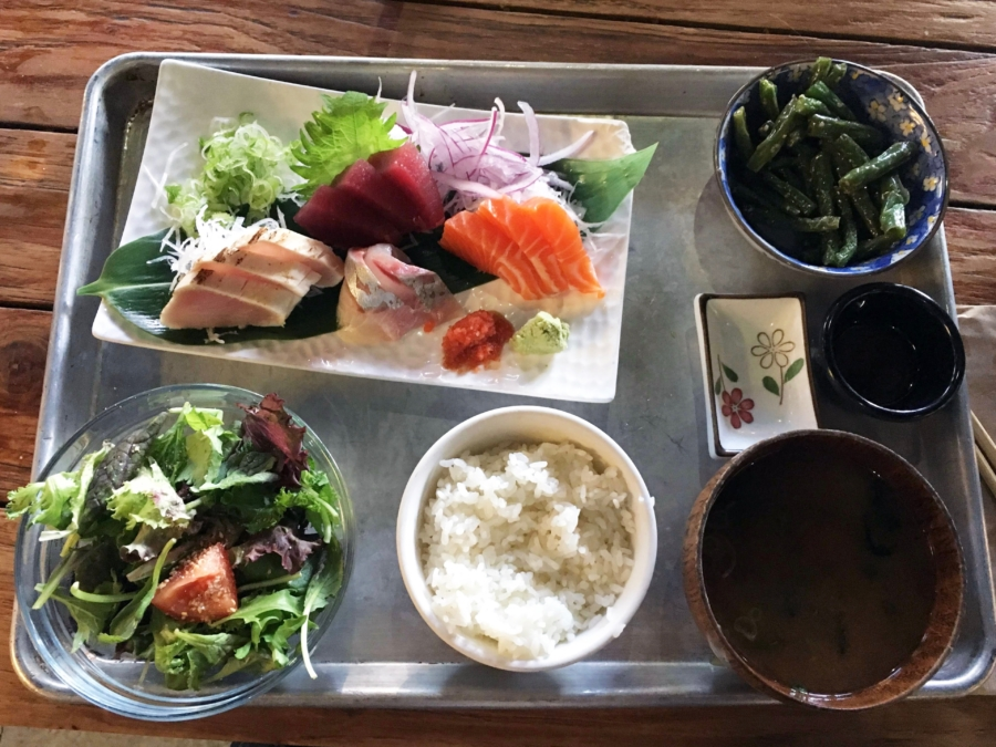 Sashimi set at AS B-Dama in Old Oakland. Photo: Sarah Han