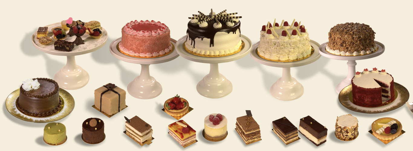 A Selection Of Cakes And Pastries From Lavender Bakery In Berkeley Photo
