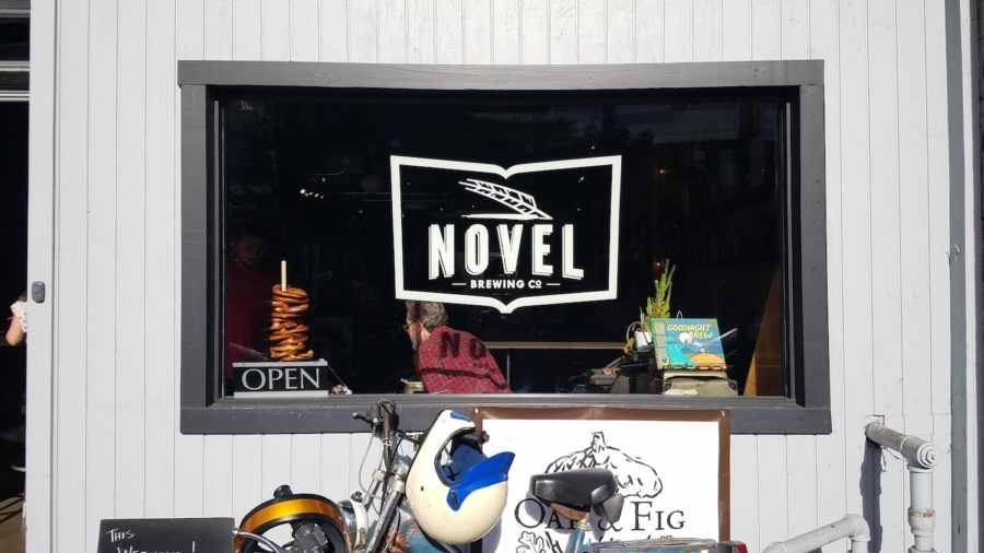 The storefront of Novel Brewing Company in Oakland.