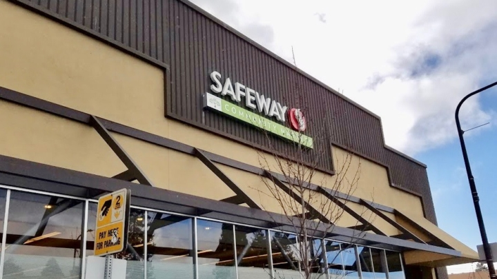 The storefront of the Safeway Community Market on Solano Avenue in Berkeley.
