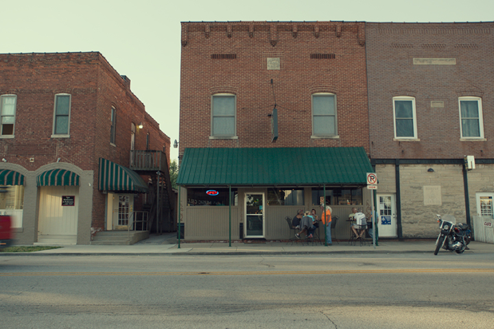 View of Monrovia, Indiana downtown