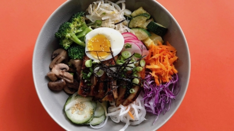A bibimbap bowl from Mad Seoul in Berkeley.