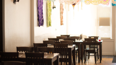 The dining room at Doña Tomás on Telegraph Avenue.