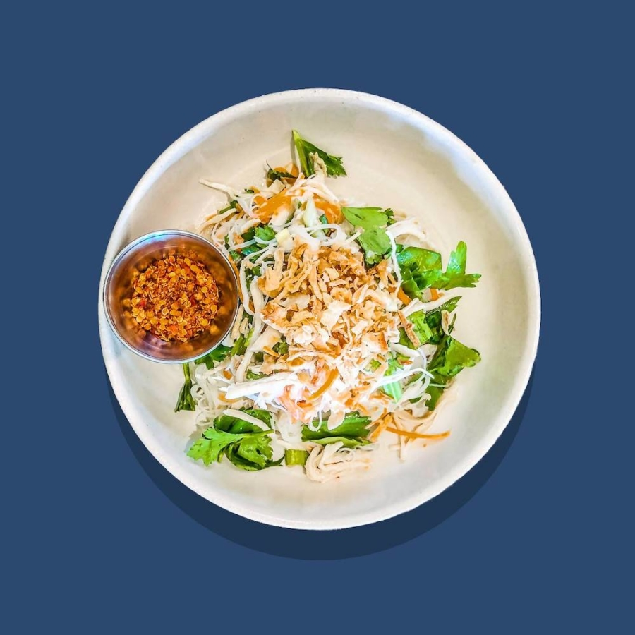 Mee Cook, a Thai noodle salad, at Yimm in Oakland.