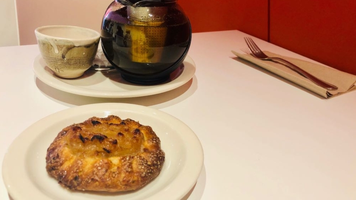 Mint tea and apple galette at Babette in Berkeley.