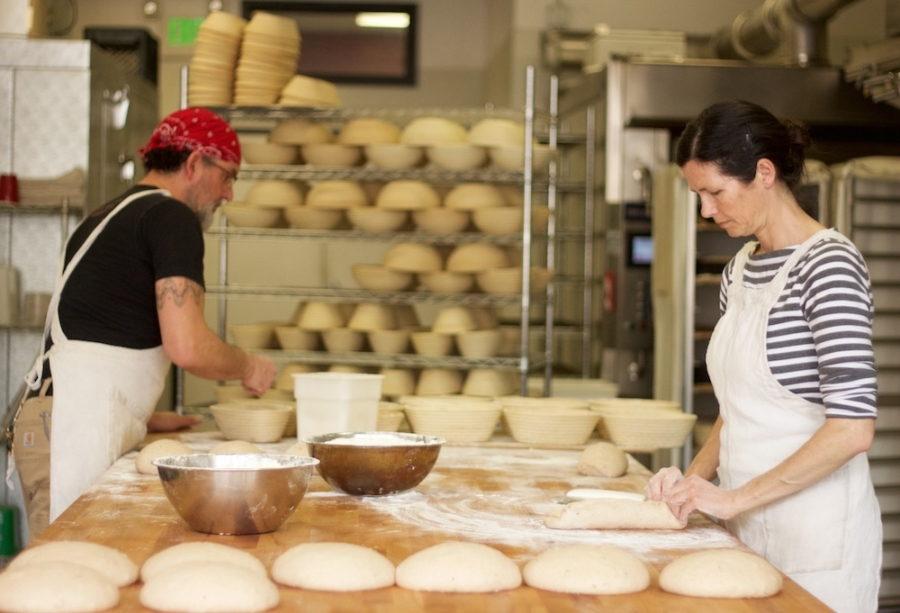 Husband-wife bakers Eduardo Morrell and Tamsen Fynn of Morrell's Bread at work at The Berkeley Kitchens.