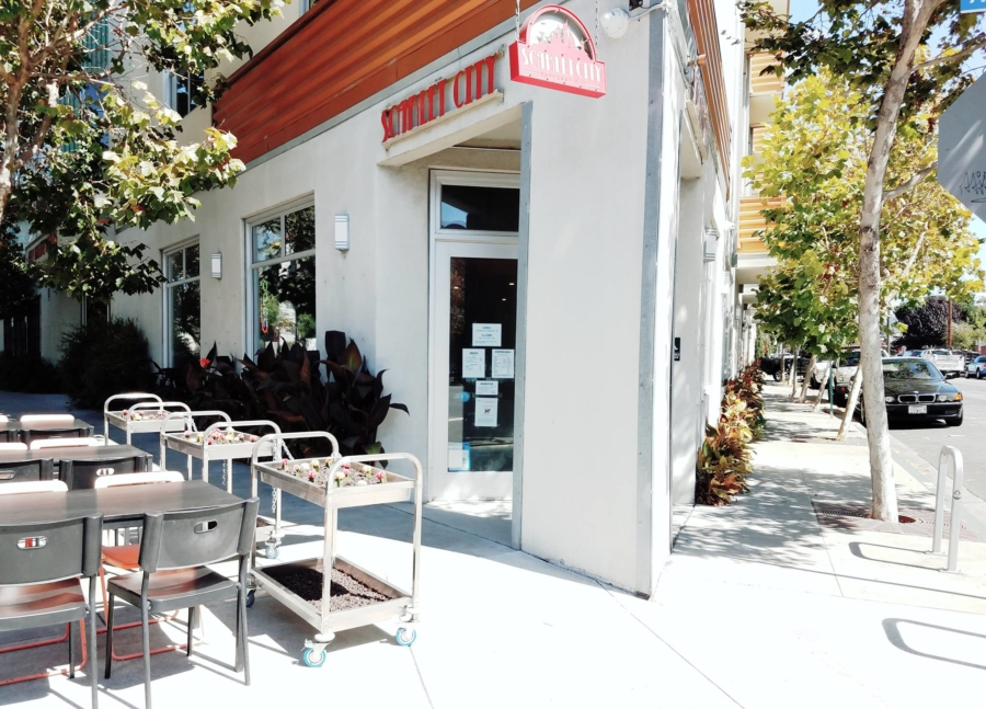 The Scarlet City Espresso Bar in Emeryville.