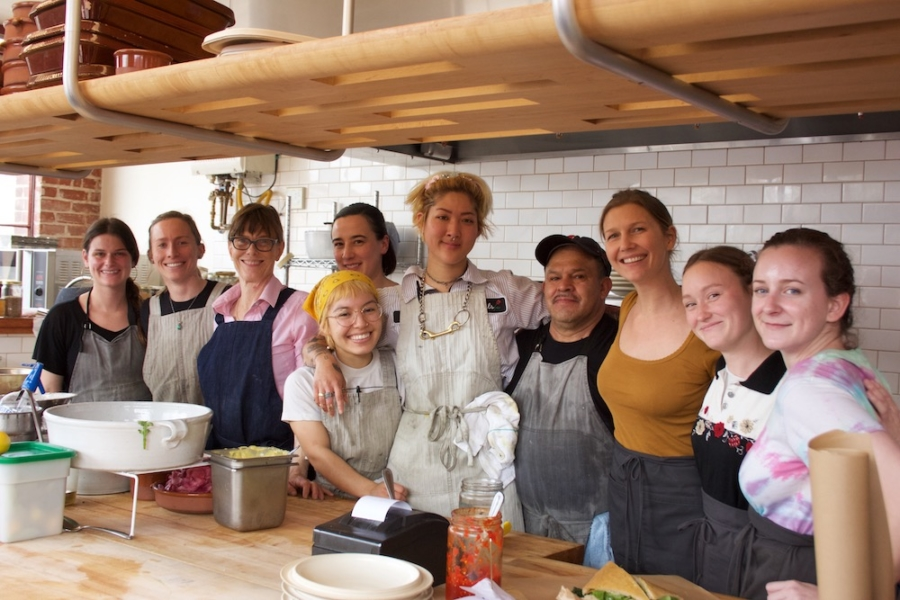 The staff at Standard Fare, a farm-to-table restaurant at The Berkeley Kitchens.