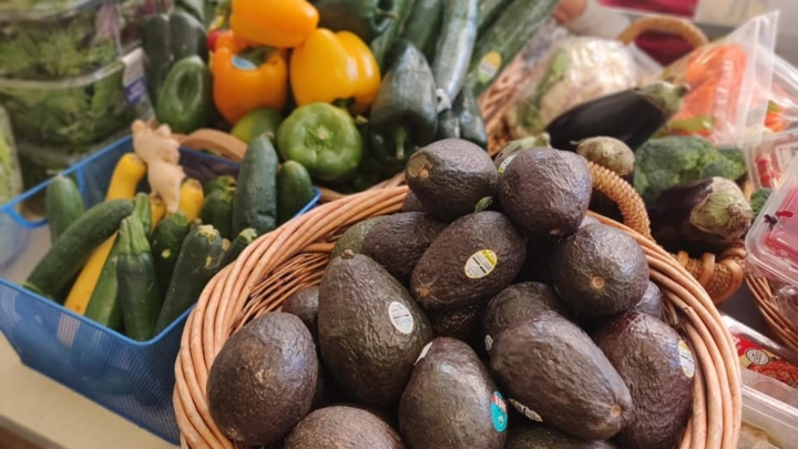 Fruit and vegetables at the Berkeley Food Pantry
