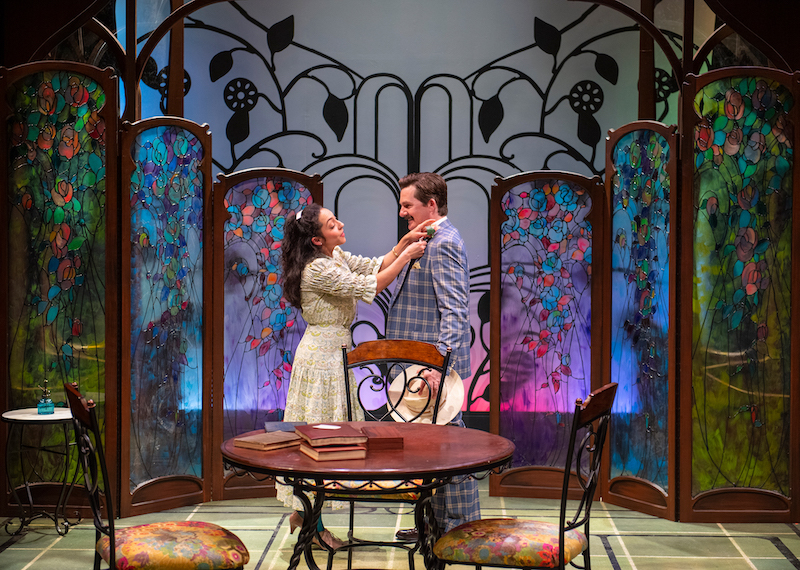 Gianna DiGregorio Rivera and Partick Kelly Jones in Oscar Wilde's The Importance of Being Earnest, directed by Josh Costello.