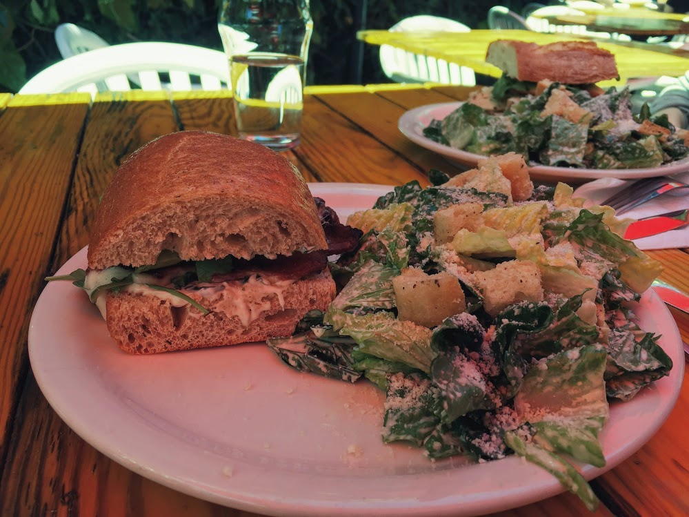 Sandwich and salad combos from Café Panini in Berkeley.