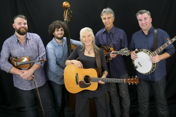 Bluegrass musician Laurie Lewis with her band, the Right Hands