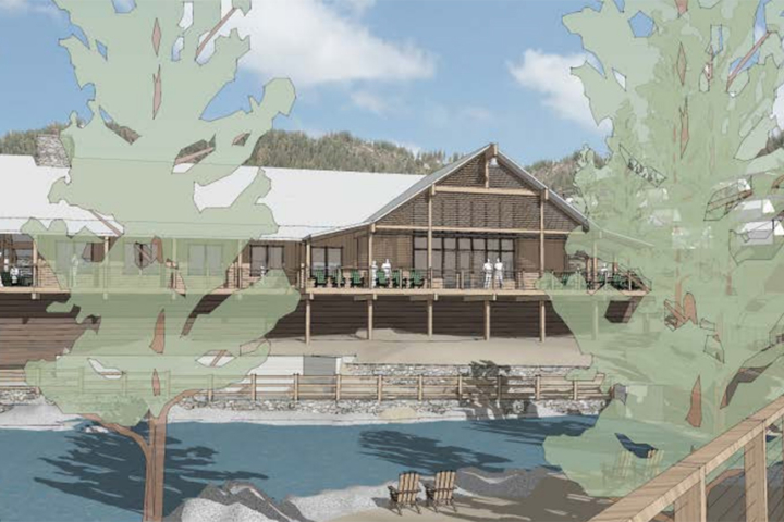 Visualization of the planned dining hall for Berkeley Tuolumne Camp
