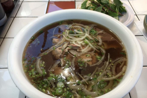 A bowl of beef pho from Super Super in Berkeley.
