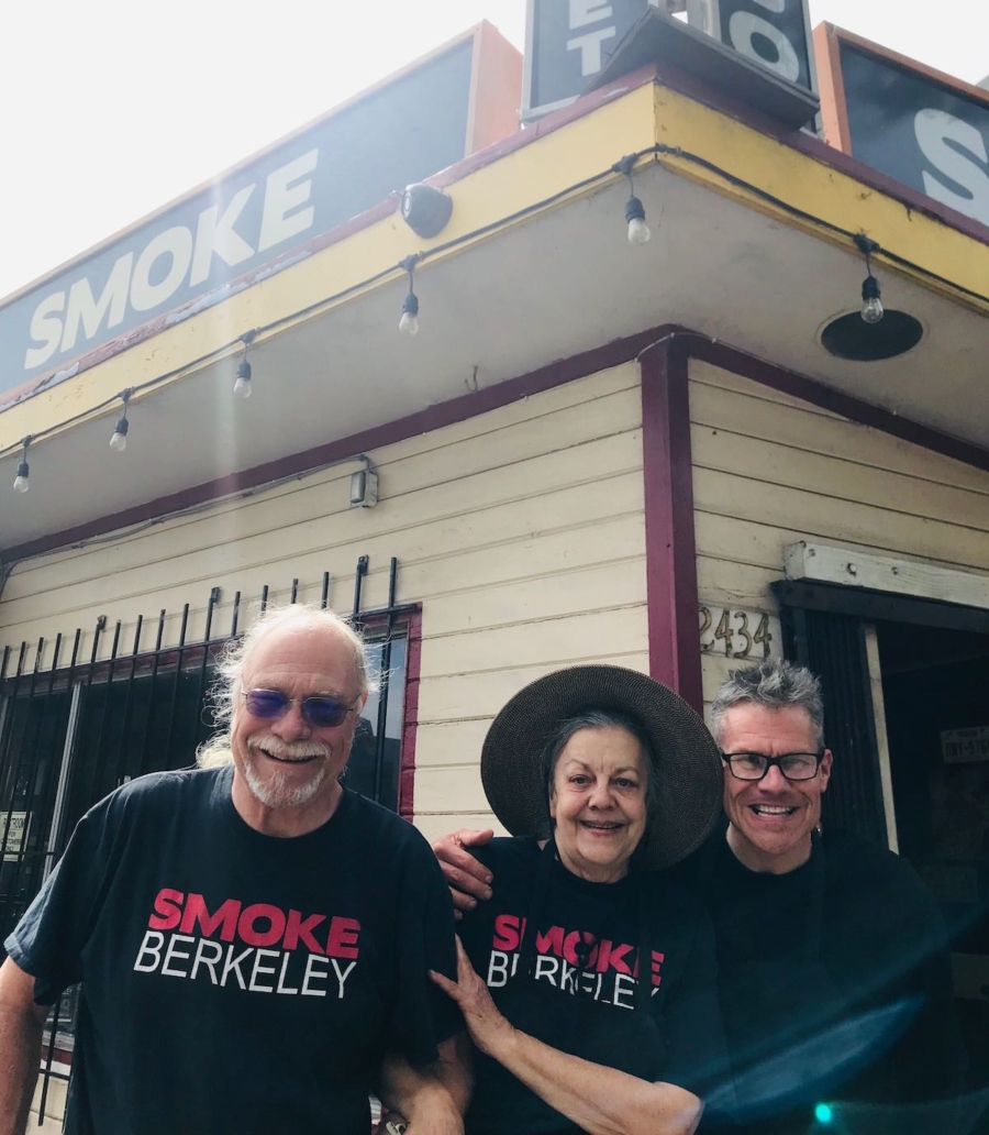 Chef Tina Ferguson-Riffe with husband Jed Riffe and son Sean Hagler at Smoke BBQ, which closed this month.