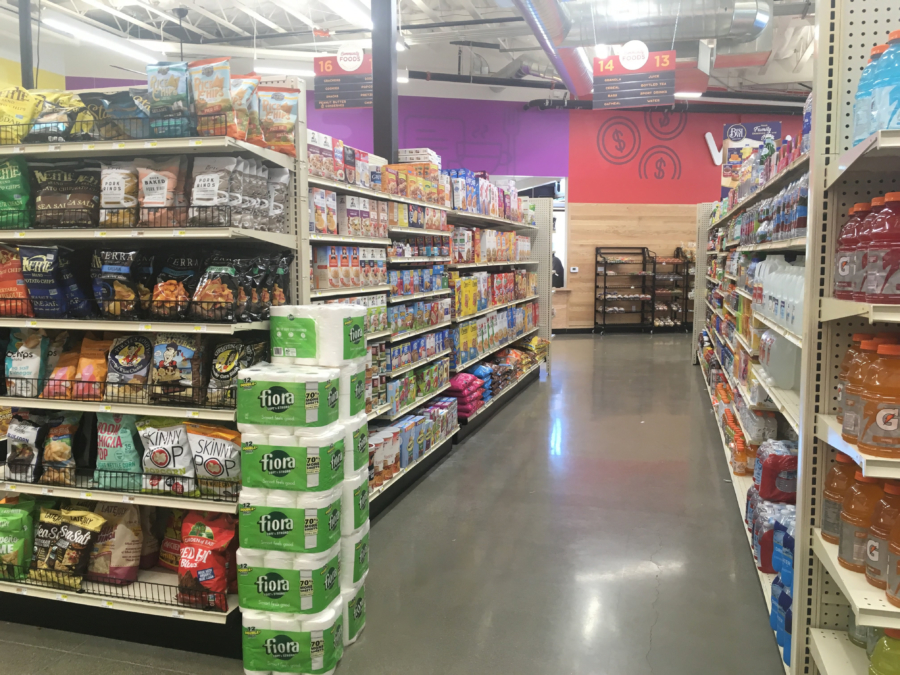 Fully stocked shelves at Community Foods Market in West Oakland.