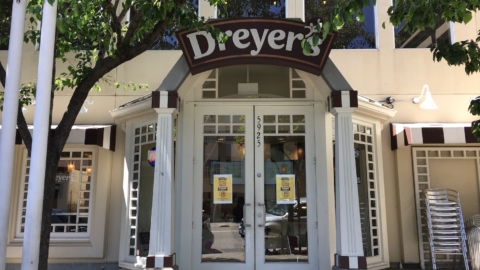 Dreyer's Grand Ice Cream Parlor & Café in Rockridge, Oakland.