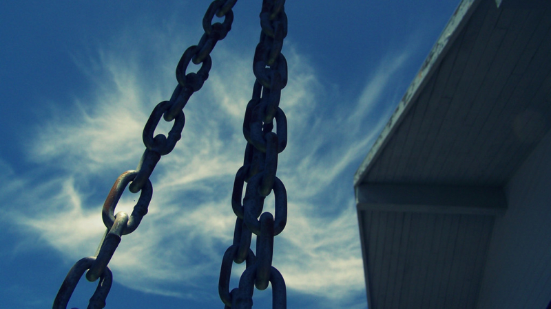 chains of a tire swing