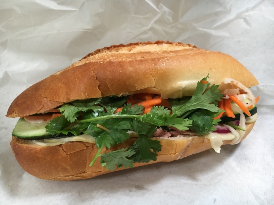 The District 3 bánh mì from Nom Nom Bánh Mì in Berkeley. Photo: Sarah Han