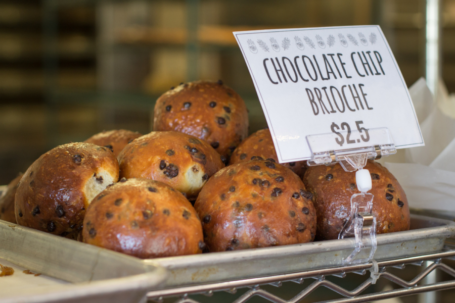Chocolate Chip Brioche at As Kneaded Bakery in San Leandro.