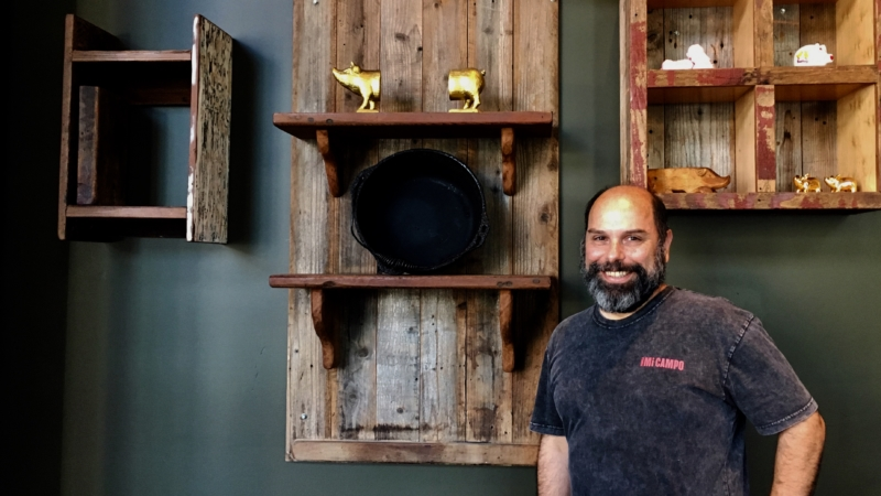 Oakland chef-restaurateur Chris Pastena at the new location of Chop Bar.