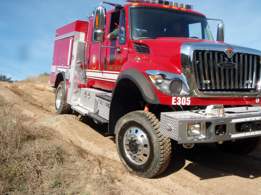 A Berkeley Fire Department off-road vehicle for firefighting