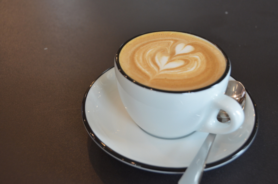 A latte from Wrecking Ball Coffee in Berkeley.