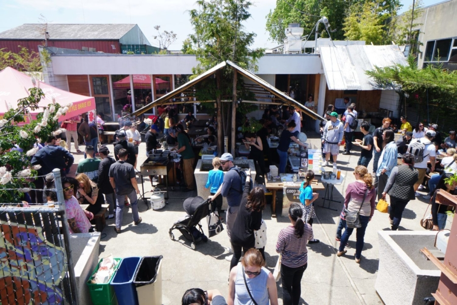 A Local Artisans Craft Food Pop-up in progress at the Soba Ichi courtyard.