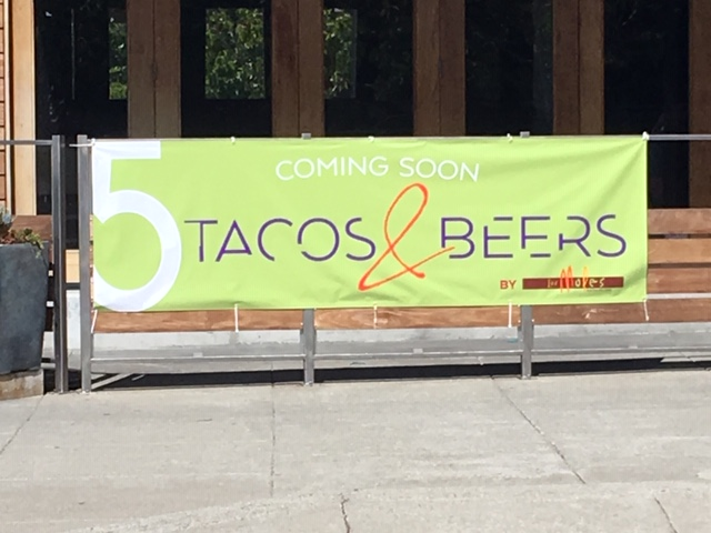 A sign at the former Cantina Del Sol restaurant on Solano Avenue announces a new taco and beer-focused eatery from Los Moles.