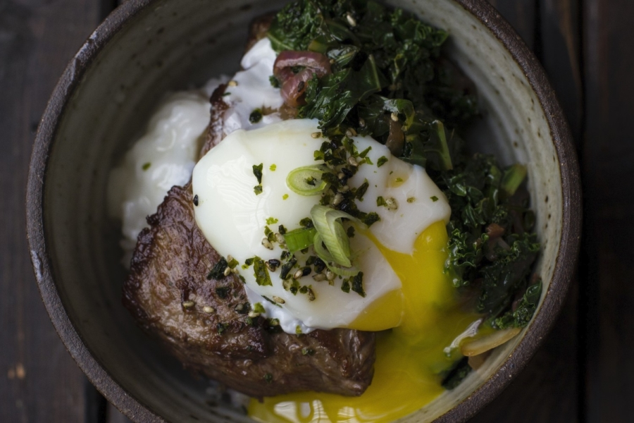 Braised short rib loco moco from the Summers in Hawaii pop-up dinner by Eats by E..