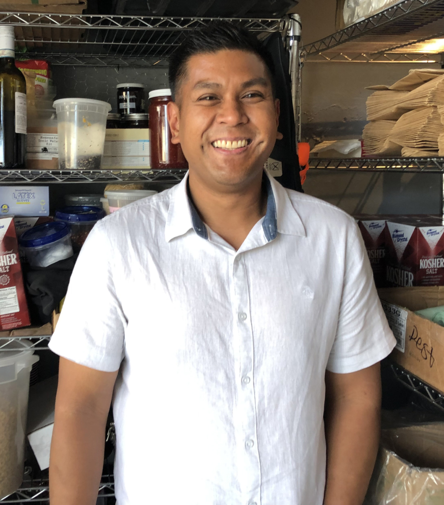 Chef Eric Pascual at a Berkeley commercial kitchen where he held an Eats by E pop-up.