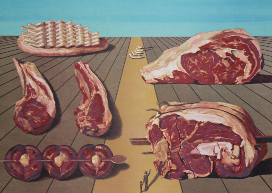 """Prints from Salvador Dalí's """"Les Diners de Gala"""" series will be on view at Bedford Gallery as part of """"Off Menu."""" Photo Courtesy of Bedford Gallery"""