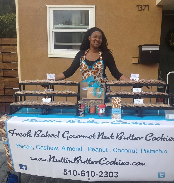 Whitney Singletary of Nuttin' Butter Cookies in Berkeley.