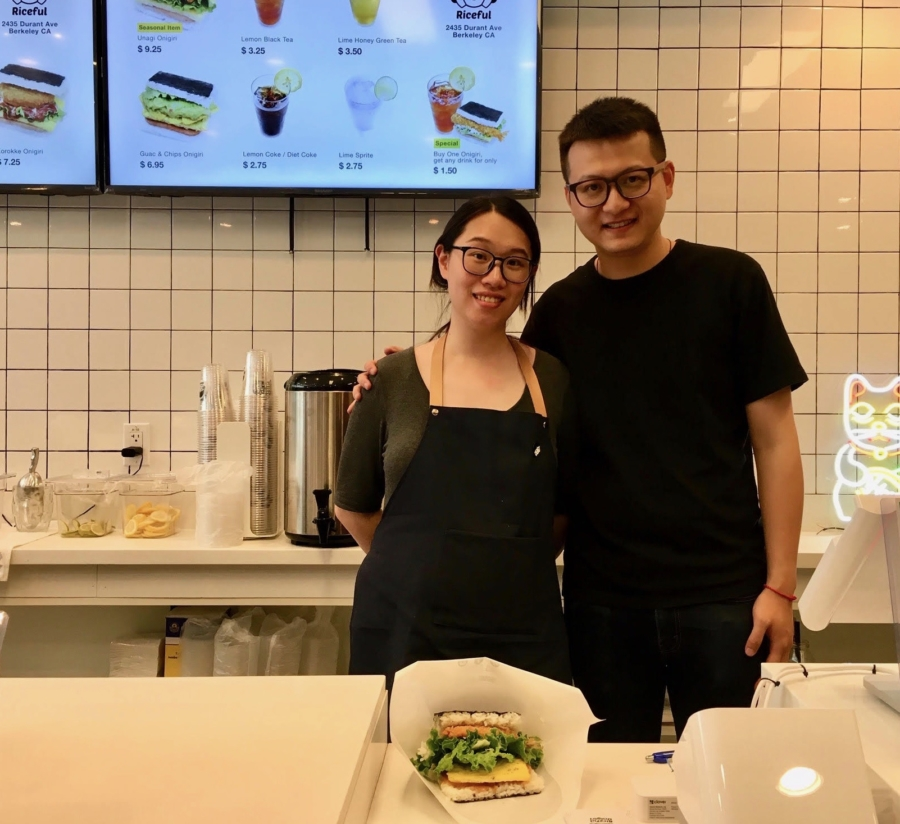 Riceful owners Kai Tang and Tiffany Chen.
