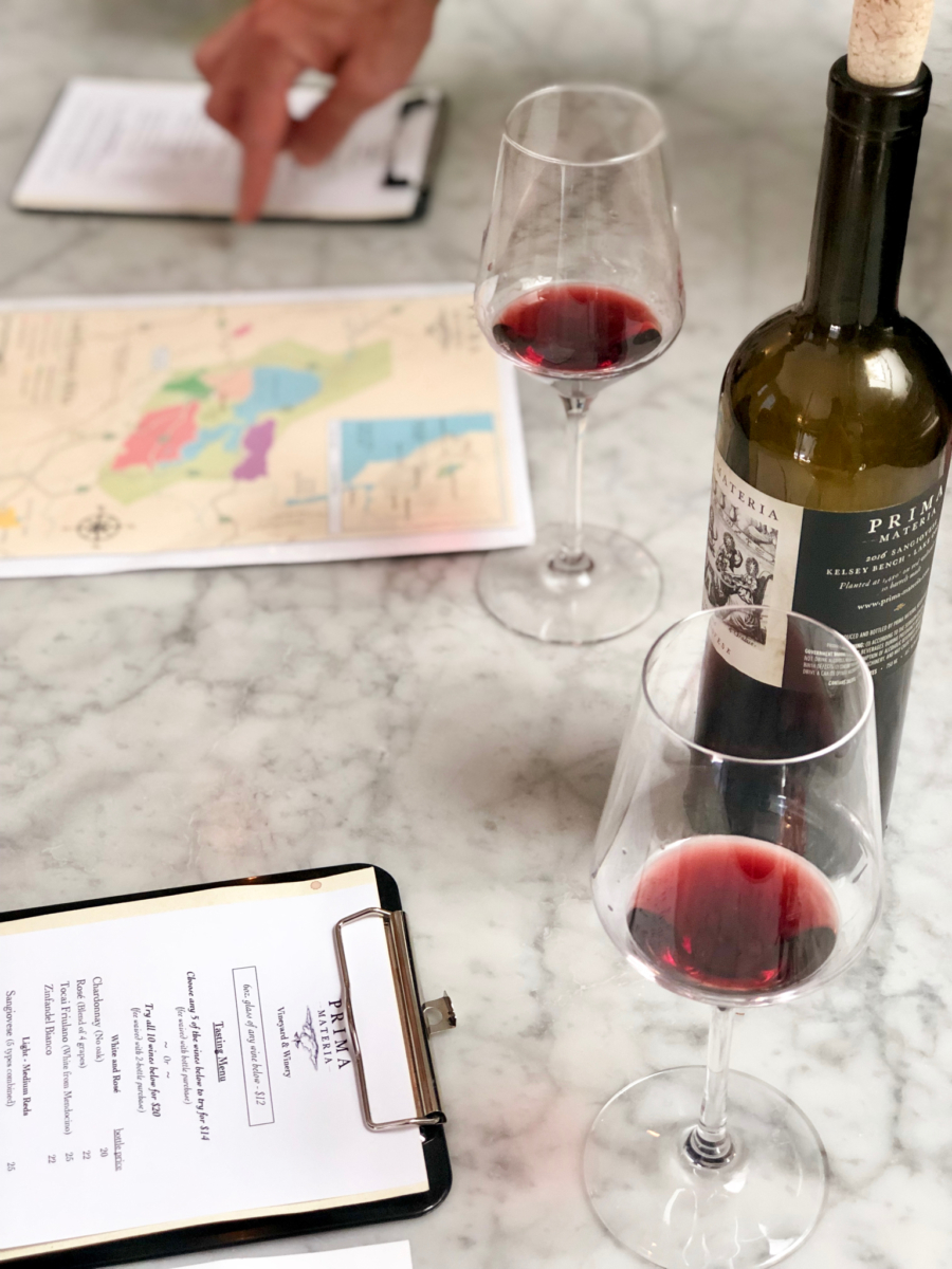 Prima Materia aims to educate wine drinkers at its tasting room events.