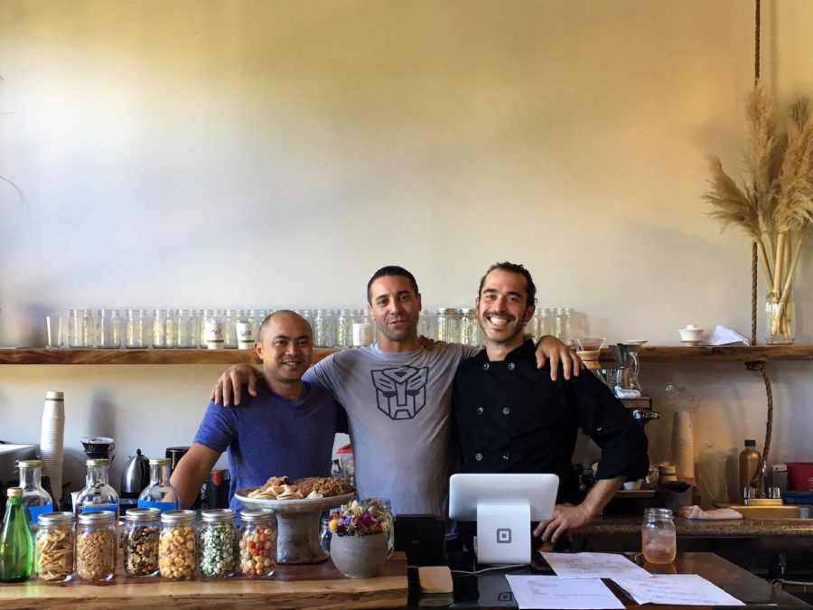 Andy Kellogg, Luke Flaherty and James O'Brien Makowski, co-owners of The Hidden Cafe in Berkeley.
