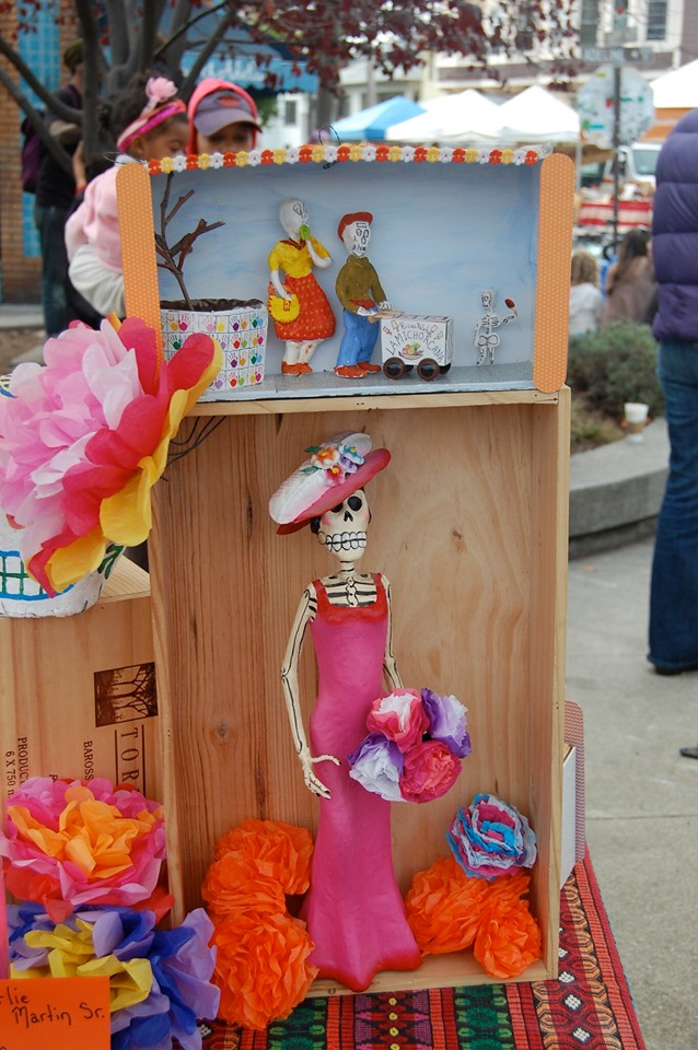 Commemorate loved ones who have passed at the South Berkeley Farmer's Market Día de los Muertos celebration.