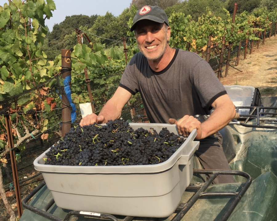 Dr. John Bry is a vascular surgeon and vintner who makes pinot noir from grapes he grows in the backyard in Wildcat Canyon, Richmond.