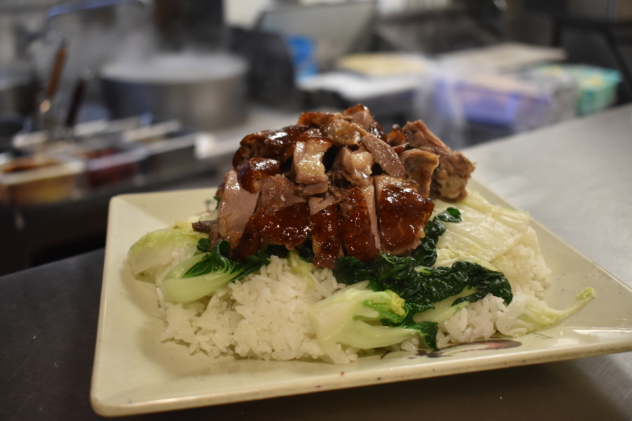 Duck on rice at Teo Chow Noodle Shack in Fremont.