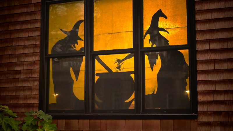 halloween decorations of witches