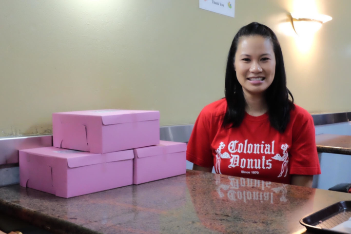 Phing Yamamoto grew up working at her parent's donut shop, Colonial Donuts on Lakeshore Avenue in Oakland. Two years ago, she left her job at Apple to manage the family business.