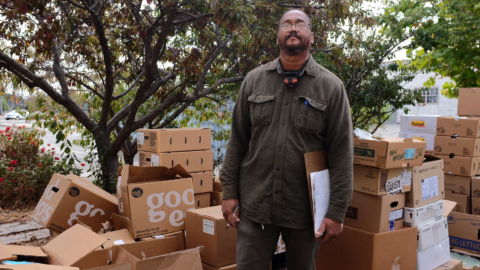 Food Shift delivery driver Robert Mills was hired after serving time in prison and needing a fresh start.