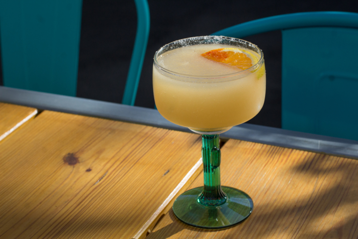 """The """"mezcal and chill"""" slushee is perfect on a warm afternoon."""