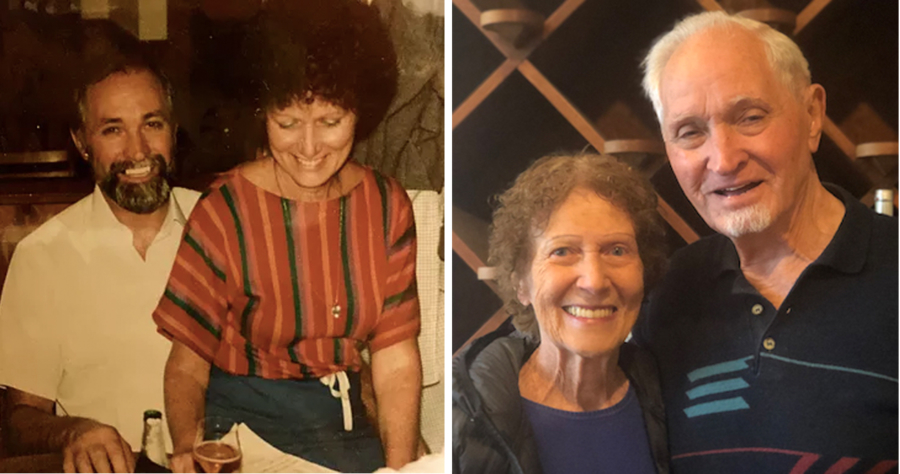 Bill and Cindy Frisch, then and now.