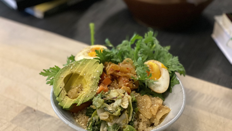 A rice bowl at Cultured Pickle Shop's Rice & Pickles event.