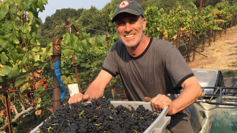 Dr. John Bry is a vascular surgeon and vintner who makes pinot noir from grapes he grows in the backyard near Wildcat Canyon, Richmond.